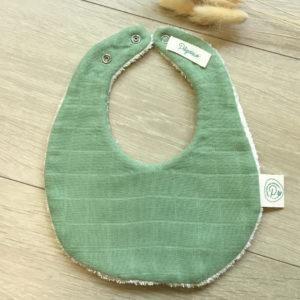 Mini bavoir en coton biologique vert Pitigaïa